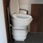 Toilet uitgeschoven